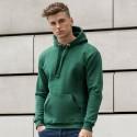 Storo audinio džemperis su gobtuvu