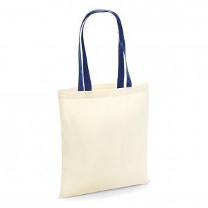 Pirkinių krepšys kontrastingomis rankenomis