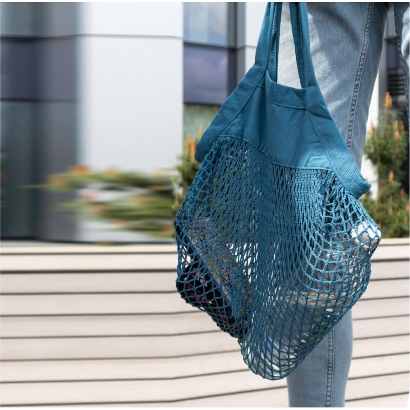 Organinės medvilnės tinklelio mini krepšys