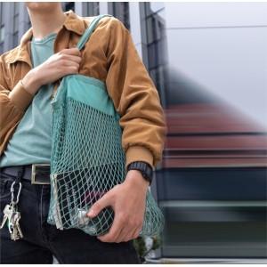 Organinės medvilnės tinklelio krepšys