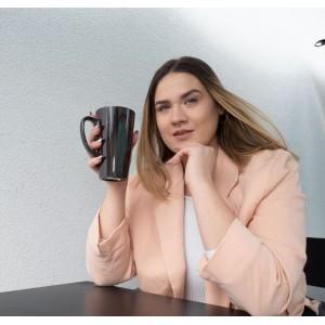 Didelis latte spalvą keičiantis puodelis