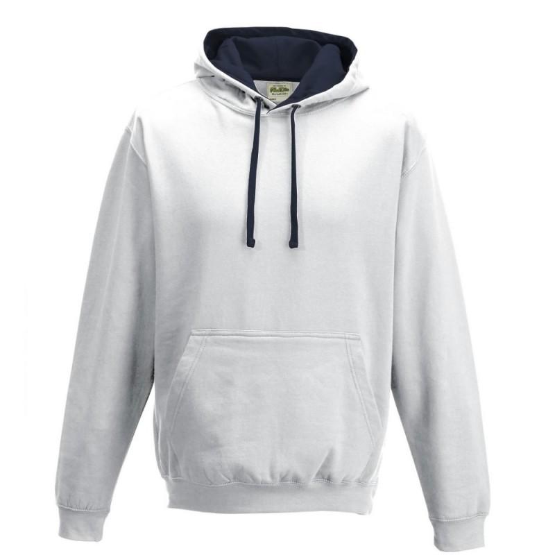 Dvispalvis džemperis su gobtuvu