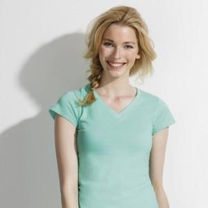 Marškinėliai moterims V formos apykakle