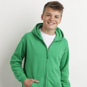 Vaikiškas džemperis su užtrauktuku ir gobtuvu