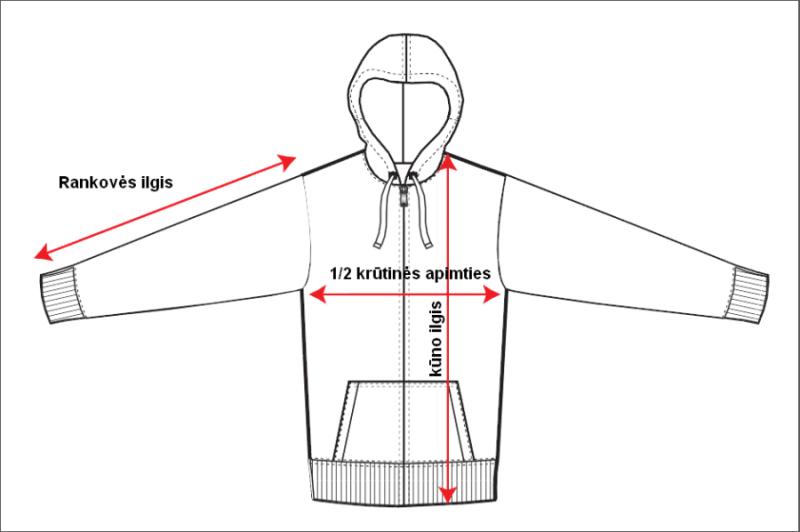 Džemperio matavimas
